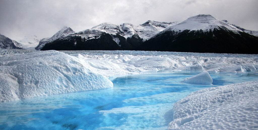 Ice Glacier Separation One Family Movement Humans