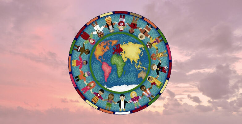 World Peace Mandala Circle Symbol World Peace Unity